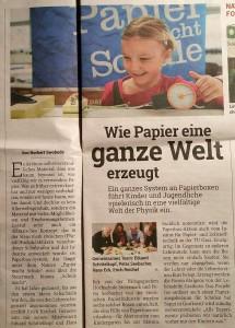 """""""Papier macht Schule"""" in der Kleinen Zeitung vom 16.2.2017"""